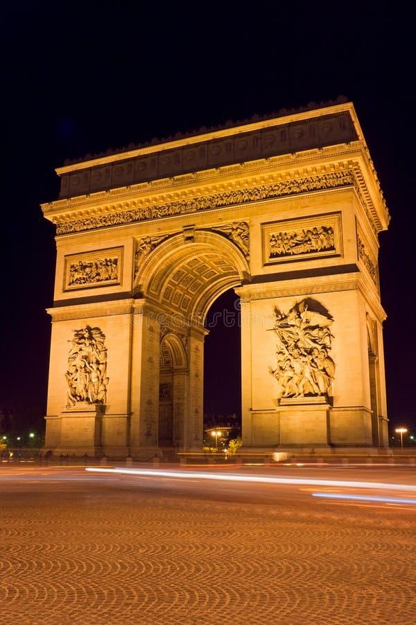 Download Arc de Triomphe stock photo. Image of illuminated, night - 1427902