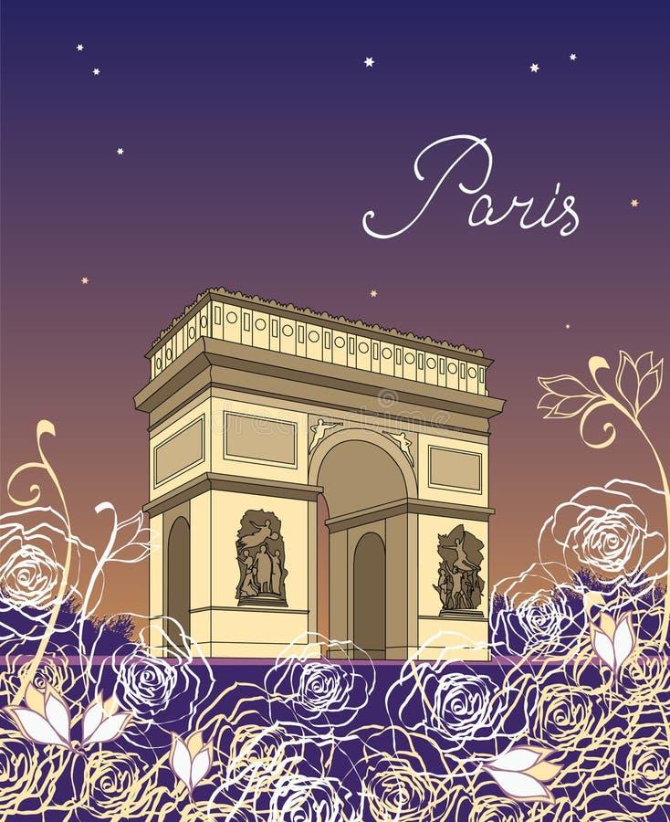 Arc de Triomphe stock abbildung