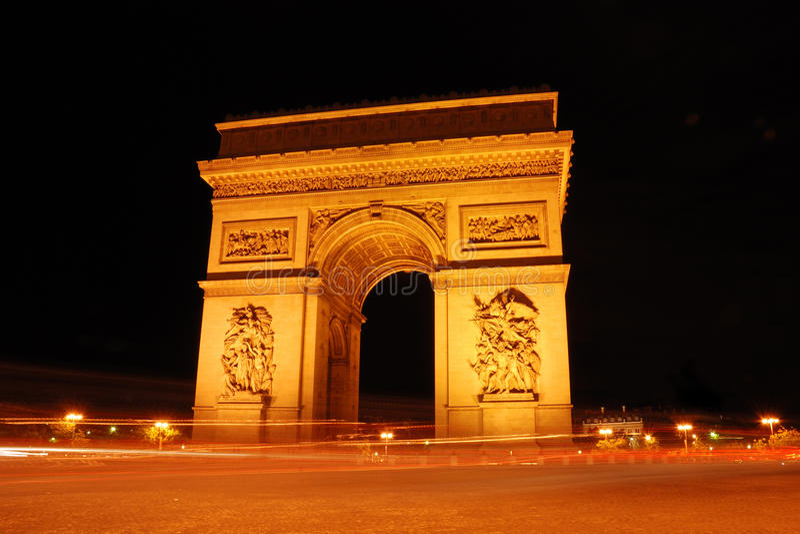 Arc de triomphe. In Paris royalty free stock images