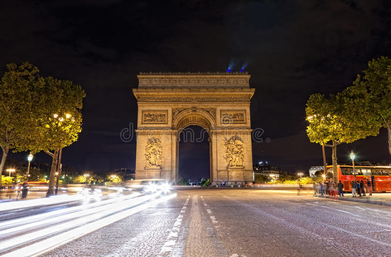 Download Arc de Triomphe stock image. Image of lights, history - 27997217
