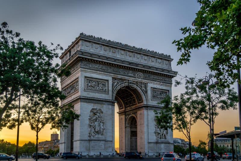 Arc DE Triomphe royalty-vrije stock foto