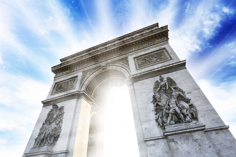 Arc DE Triomphe royalty-vrije stock foto