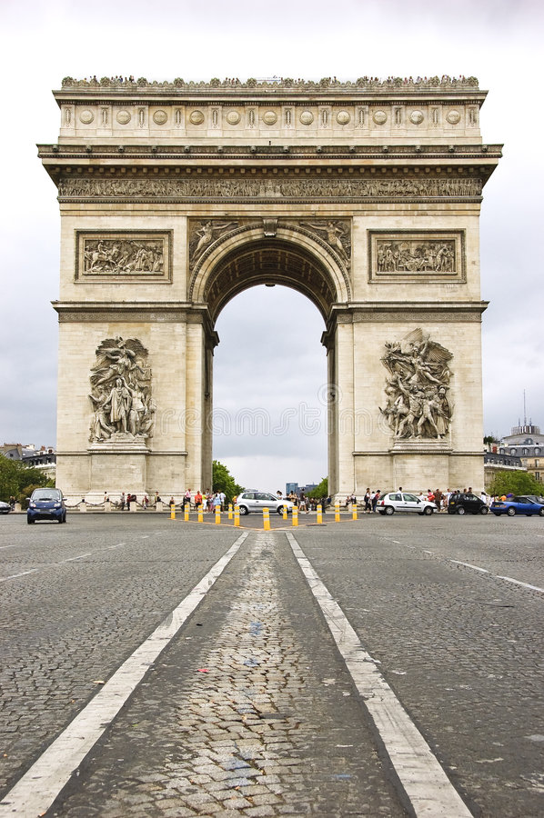 Download Arc de Triomphe stock photo. Image of elysees, french - 7556436