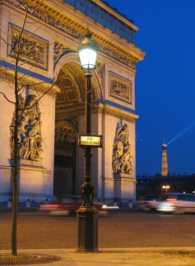 Arc de Triomphe arkivbilder