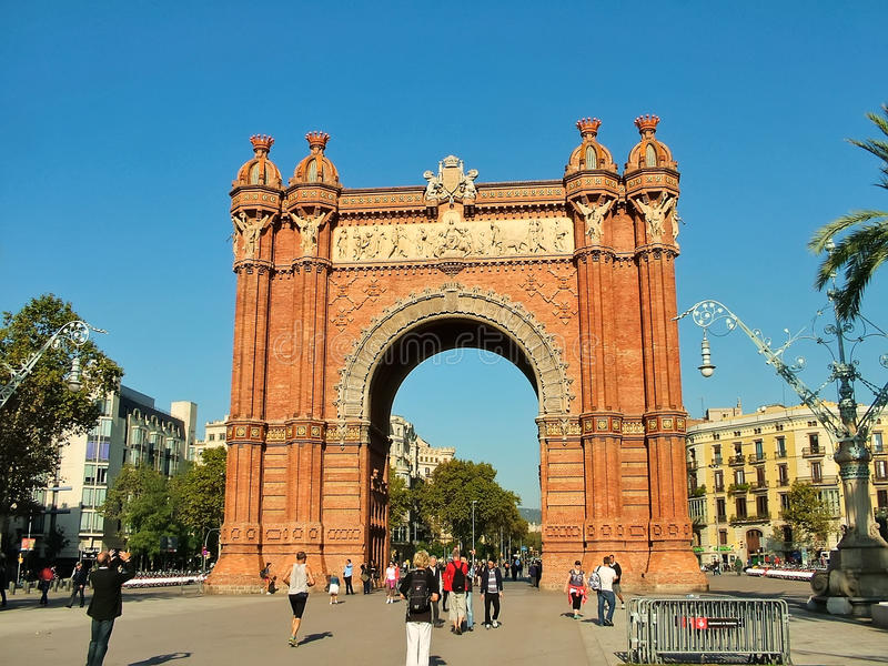 Arc de Triomphe (Arc de Triomf) à Barcelone photographie stock