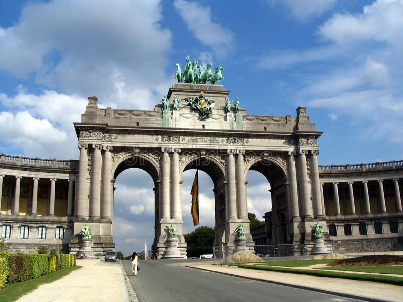 Arc de Triomphe, Bélgica fotos de archivo