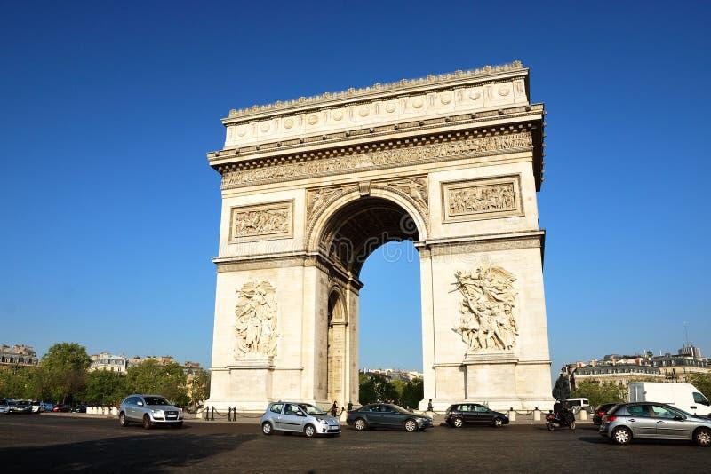 Arc de Triomphe - Bogen des Triumphes, Paris, Frankreich lizenzfreies stockfoto