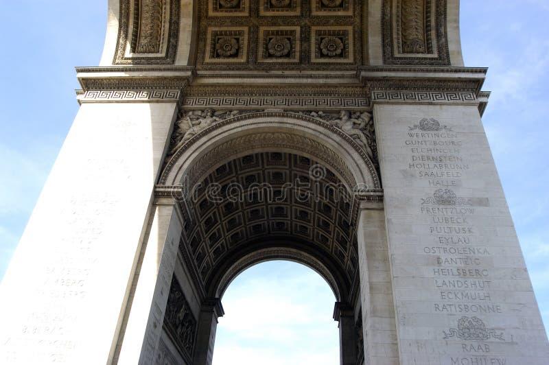 Arc DE Triomphe Close royalty-vrije stock afbeelding