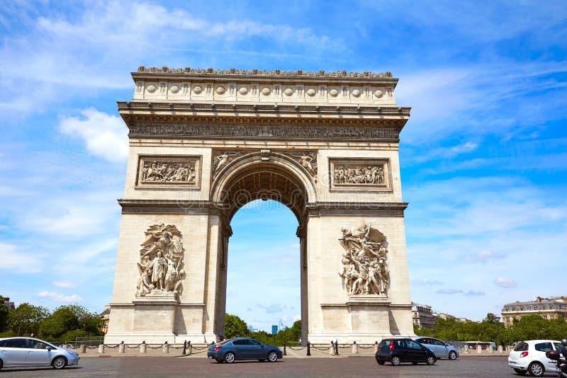Arc de Triomphe dans la voûte de Paris de Triumph images libres de droits