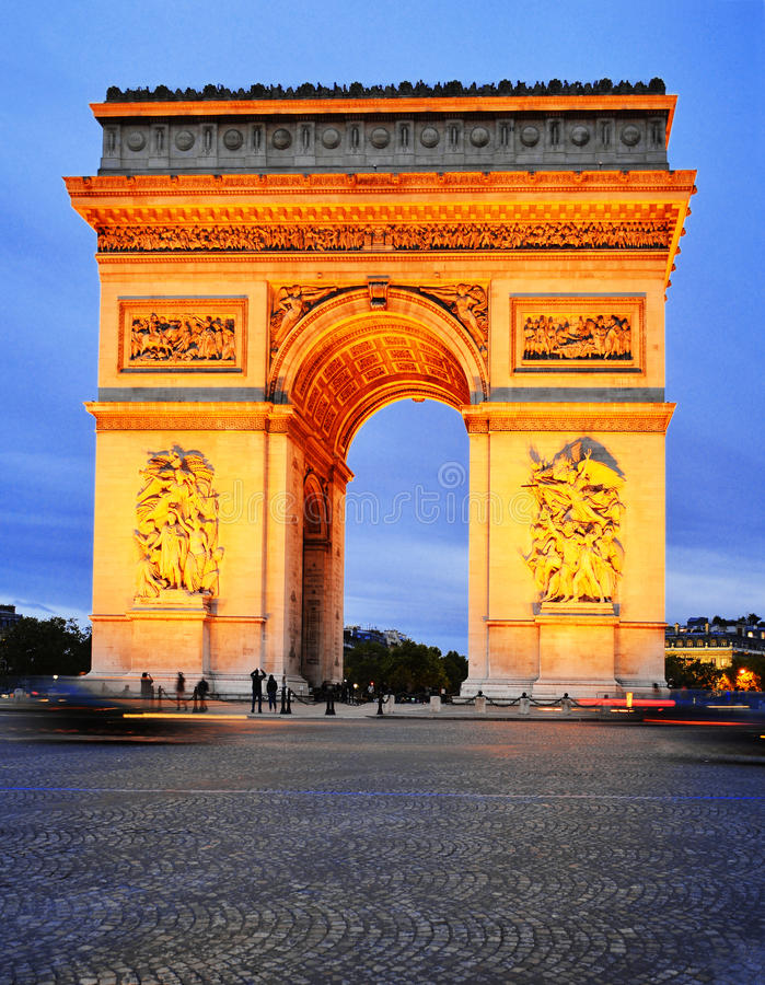 Arc de Triomphe -De l'Etoile, Triumphbogen, Paris, Frankreich stockfoto