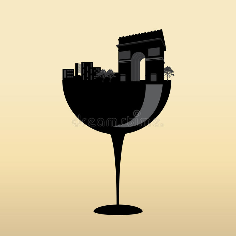 Download Arc de Triomphe design stock vector. Image of emblem - 31867276