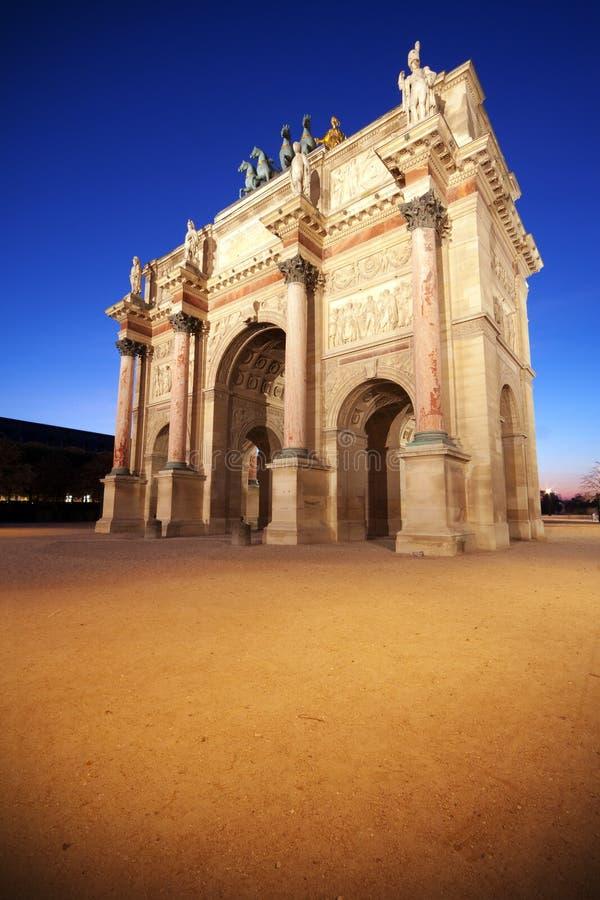 Arc de Triomphe du Carrousel imagenes de archivo