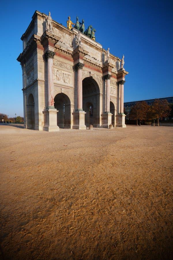 Arc de Triomphe du Carrousel foto de archivo libre de regalías