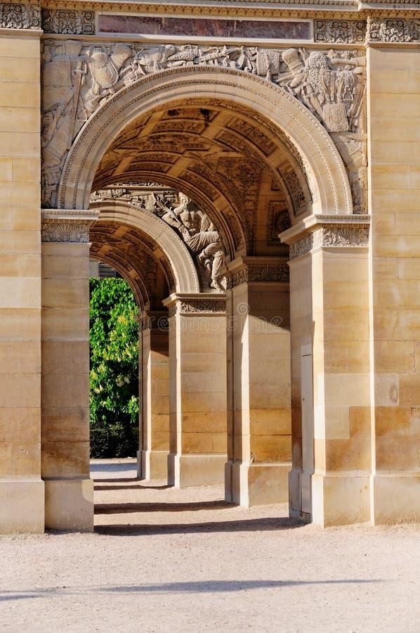 Arc DE Triomphe du Carrousel in Parijs stock afbeelding