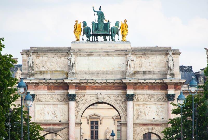 Arc de Triomphe du Carrousel in Paris stockfoto