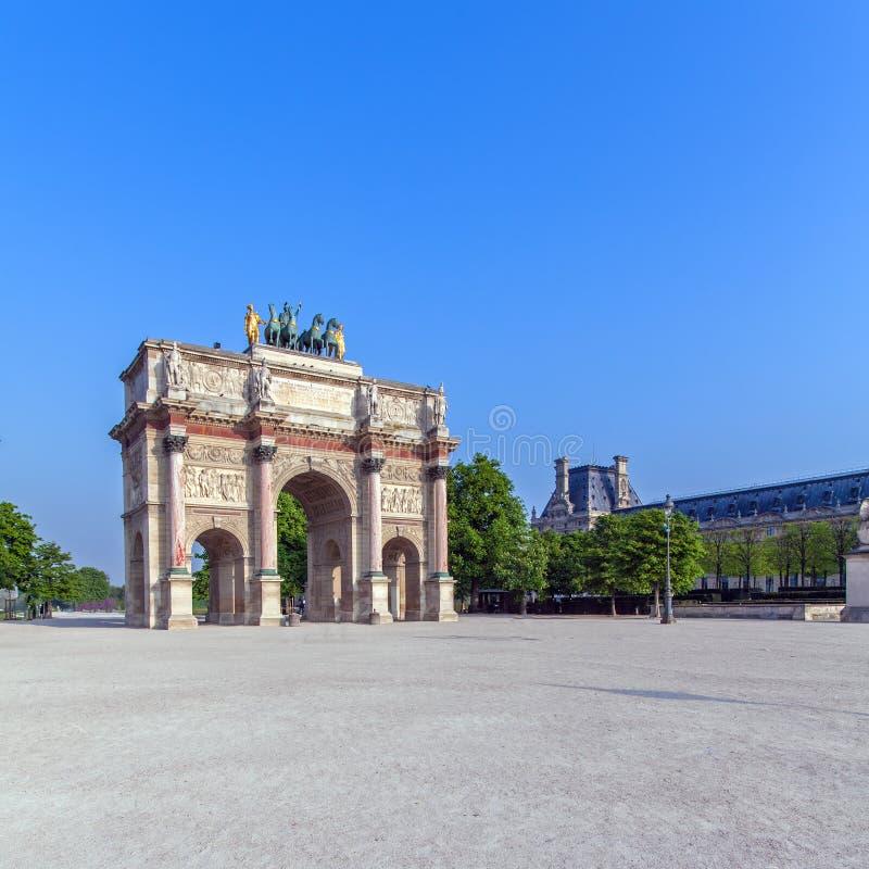 Arc de Triomphe du Carrousel, Paris stock photos