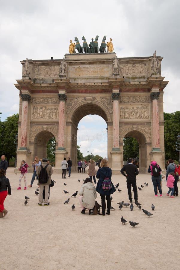 Arc de Triomphe du Carrousel, Paris stock image