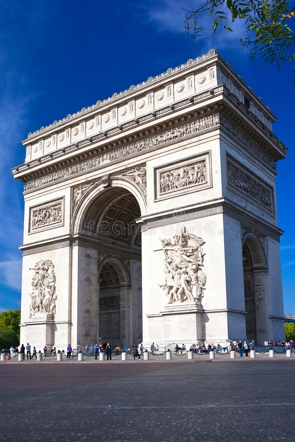 Download Arc de Triomphe stock photo. Image of history, built - 35660196