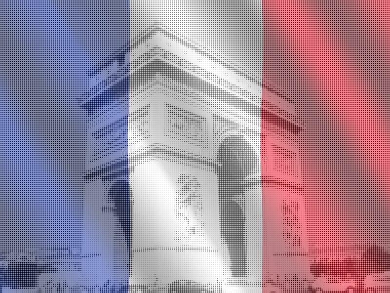 Download Arc de Triomphe with flag stock illustration. Illustration of tourism - 6863895