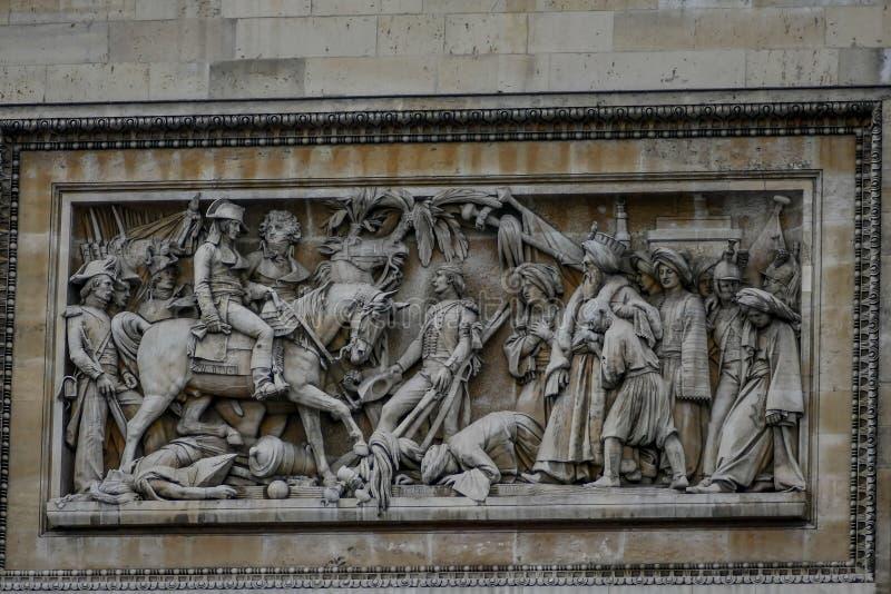 Arc de Triomphe, imagen de la foto una vista panorámica hermosa de la ciudad del metropolitano de París imagen de archivo libre de regalías