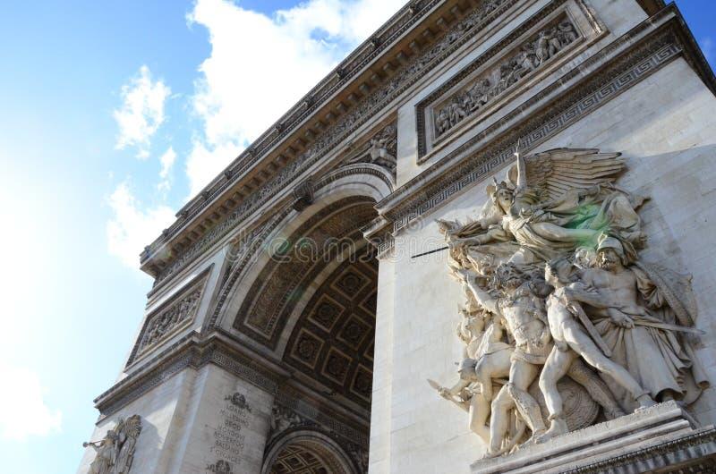 Arc de Triomphe de l bourdonnement toile de ‰ du ` Ã photo libre de droits