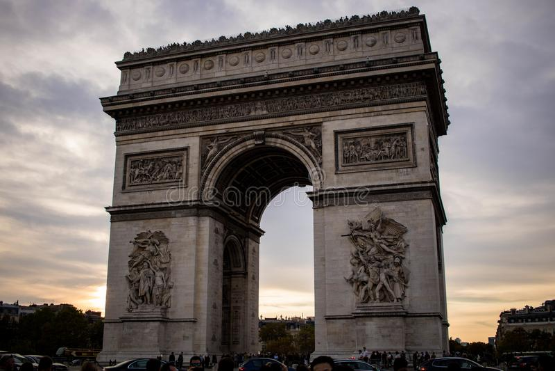 Arc de Triomphe de l toile ‰ för ` Ã royaltyfria foton