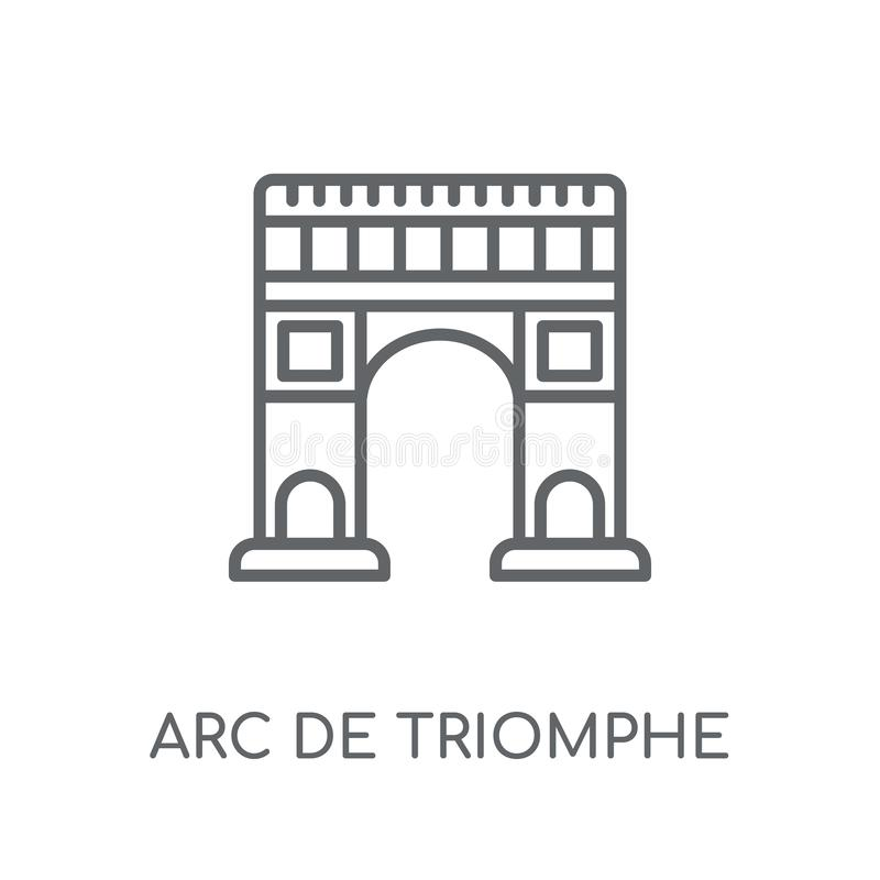 Arc de triomphe linear icon. Modern outline Arc de triomphe logo. Concept on white background from Architecture and Travel collection. Suitable for use on web stock illustration