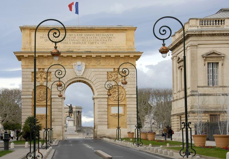 Arc de Triomphe, Montpellier lizenzfreies stockbild