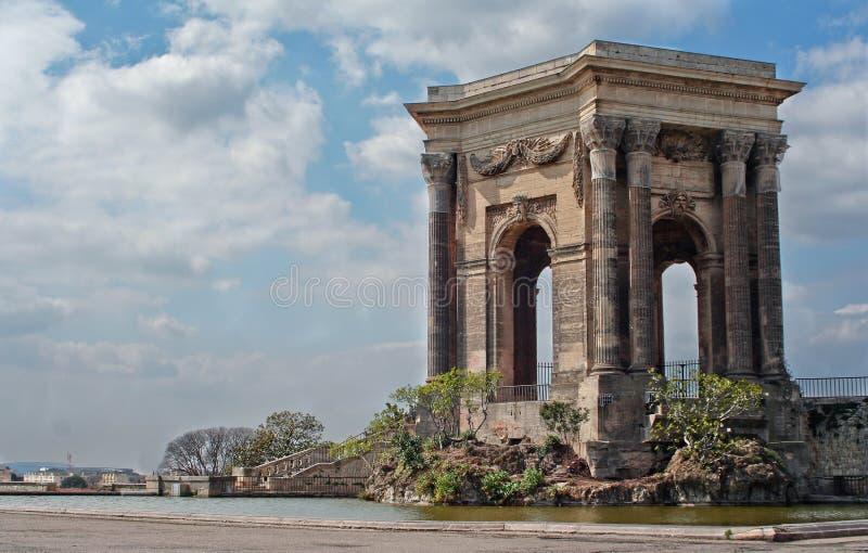 Arc de Triomphe in Montpellier, Frankreich stockbilder