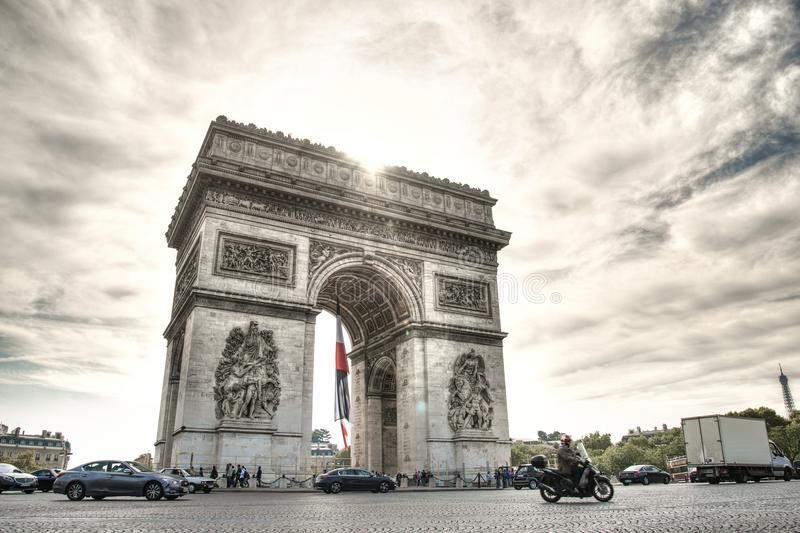 Arc De Triomphe Paris stockbild