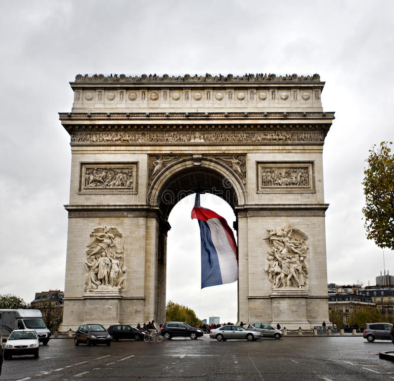 Arc de Triomphe, Paris foto de stock