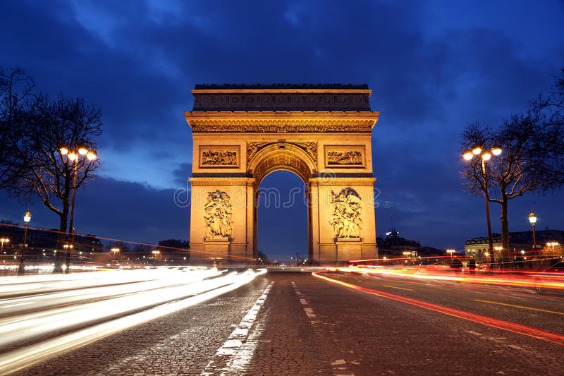 Download Arc de Triomphe, Paris stock photo. Image of high, avenue - 18558732