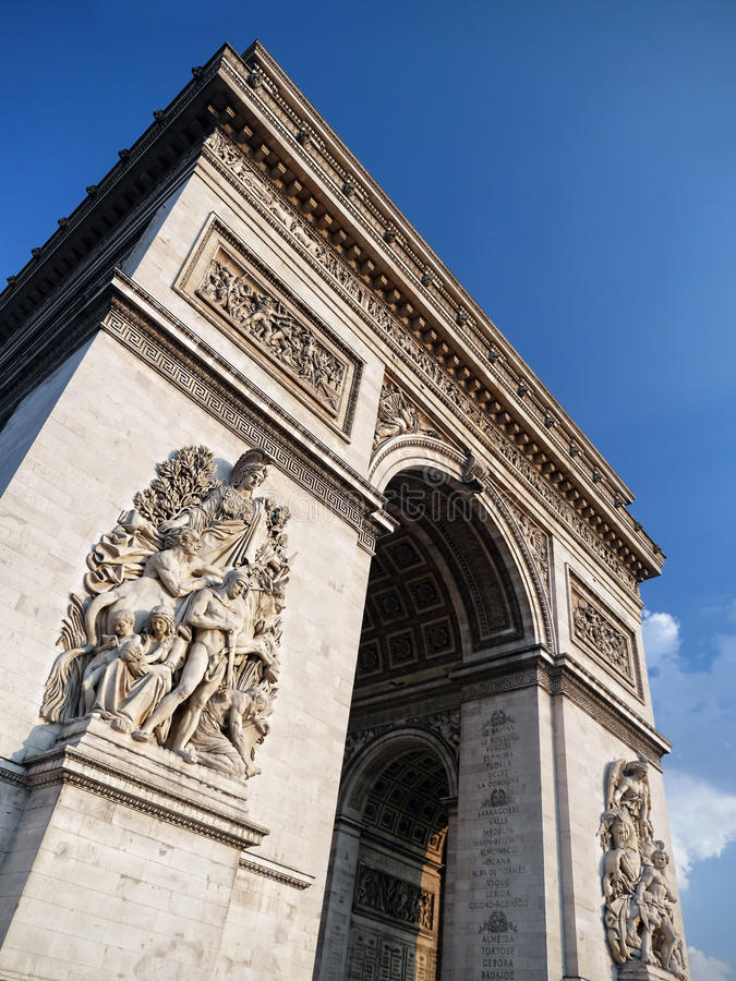 Download Arc de Triomphe stock image. Image of arch, champs, historic - 33338617