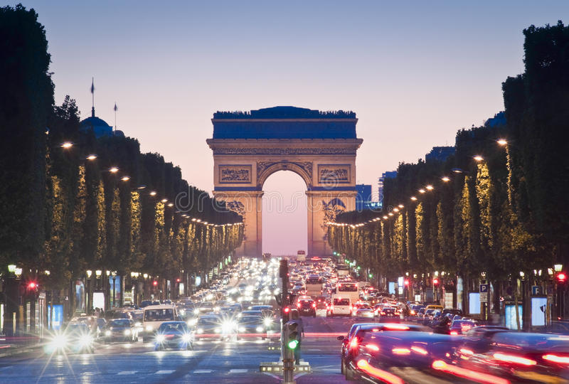 Arc de Triomphe, Paris foto de stock royalty free