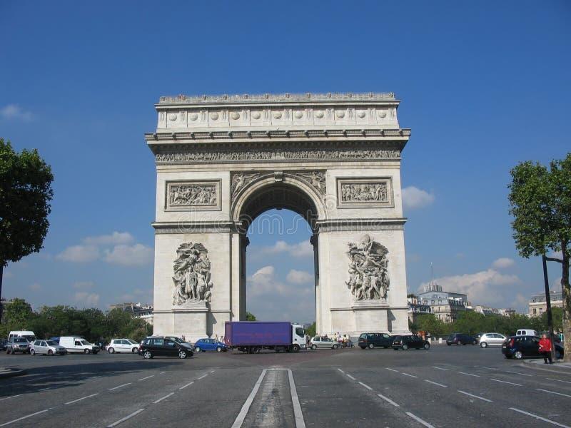Arc de Triomphe, Paris lizenzfreies stockfoto