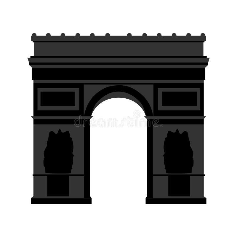 Arc de Triomphe Paris stock illustrationer