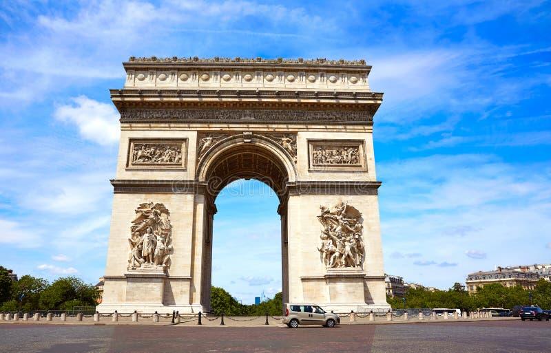 Arc de Triomphe in Paris Arch of Triumph. At France stock photos