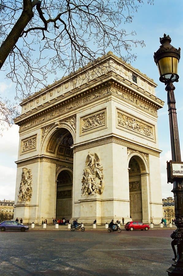 Arc de Triomphe, Paris France foto de stock royalty free
