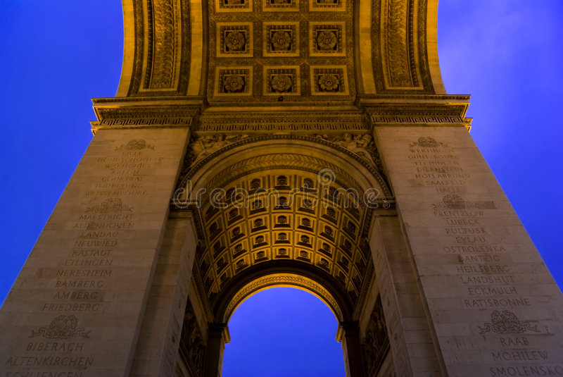 Arc de Triomphe, Paris, France imagens de stock royalty free