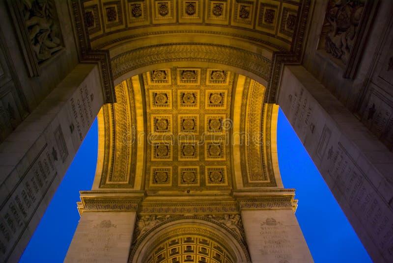 Arc de Triomphe, Paris, France image libre de droits