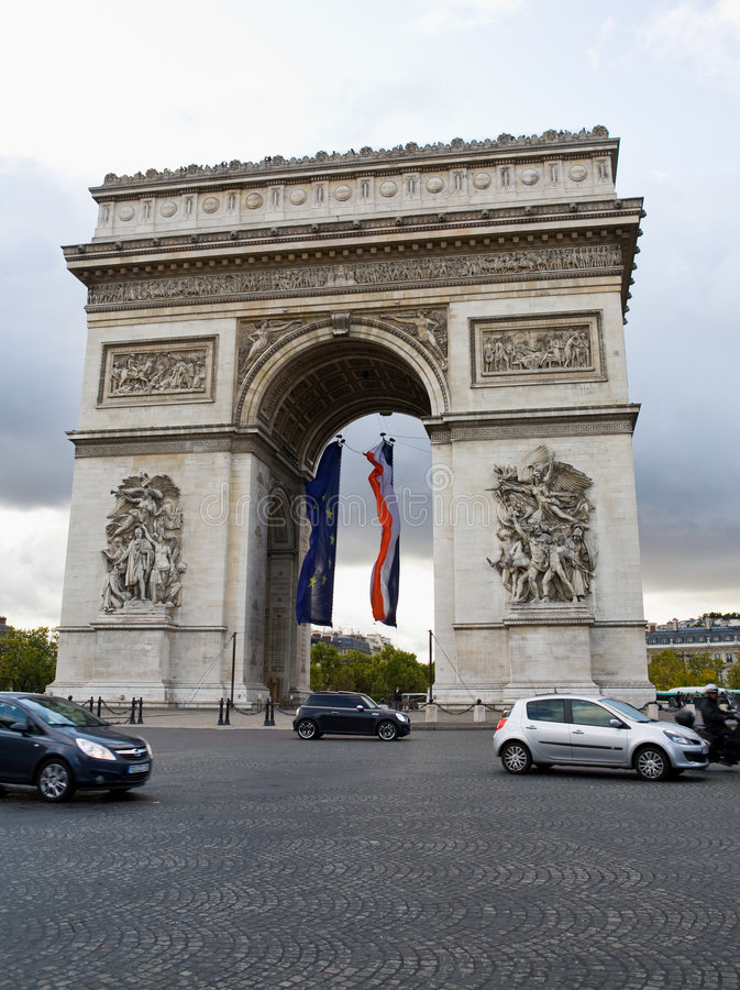 Arc de Triomphe Paris France photographie stock