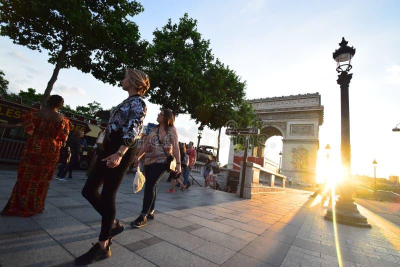 Arc de Triomphe, Paris, France stock photography
