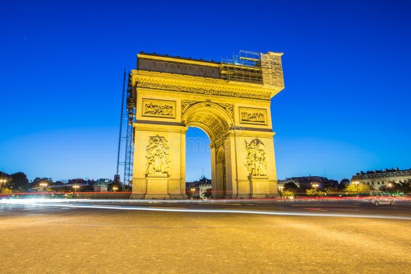 Arc de Triomphe Paris, Frankreich stockbilder