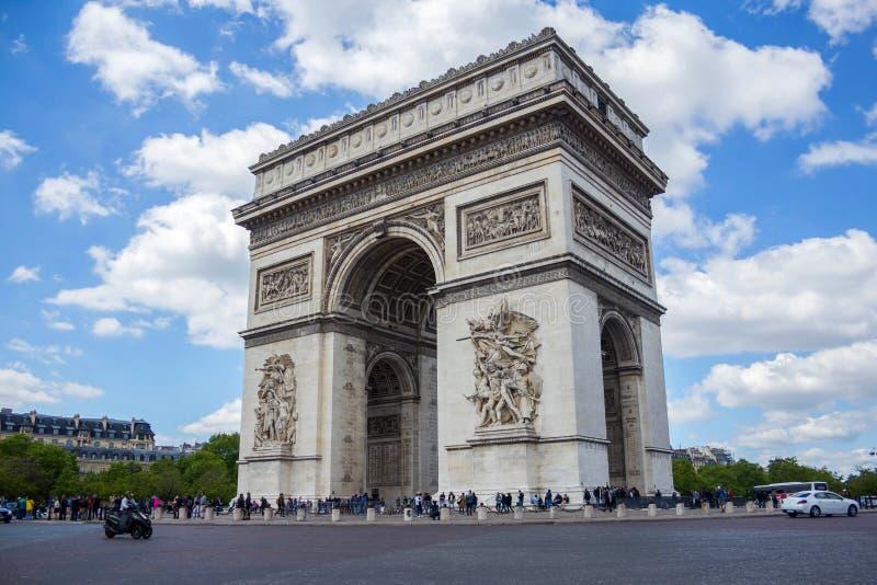 Arc de Triomphe, Paris, Frankreich 12. Mai 2019 stockfotos