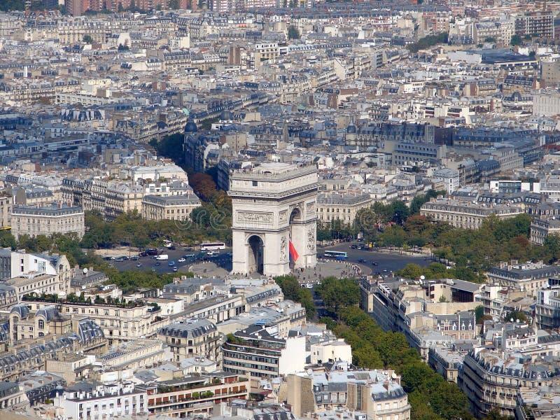 Arc de Triomphe -Triumphbogen, Paris, Frankreich lizenzfreies stockbild