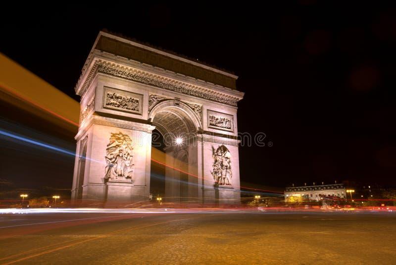 Arc de Triopmphe Light足迹 库存照片