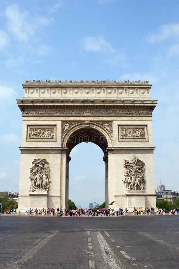Arc De Triumph. Famous Arc De Triumph in Paris, France royalty free stock image