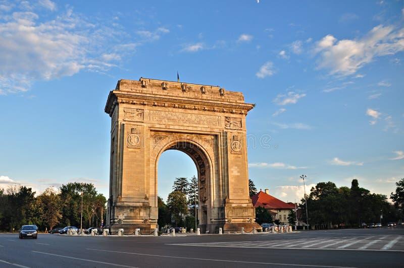 Arc de triumph. Bucharest, Romania stock images