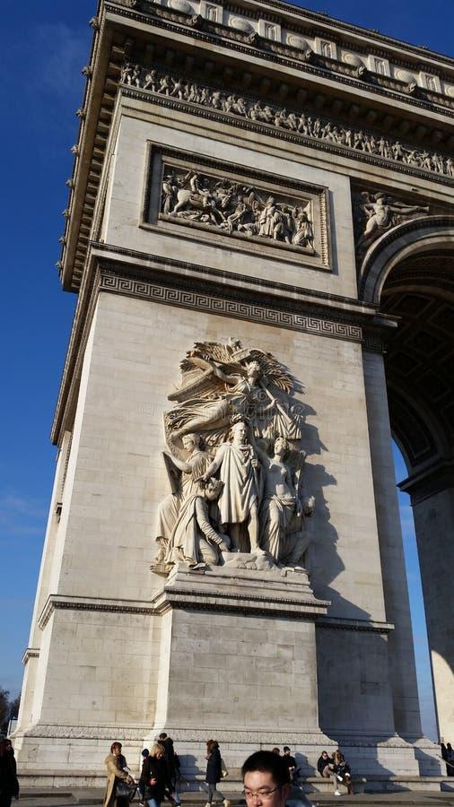 Arc DE Triumph royalty-vrije stock afbeelding