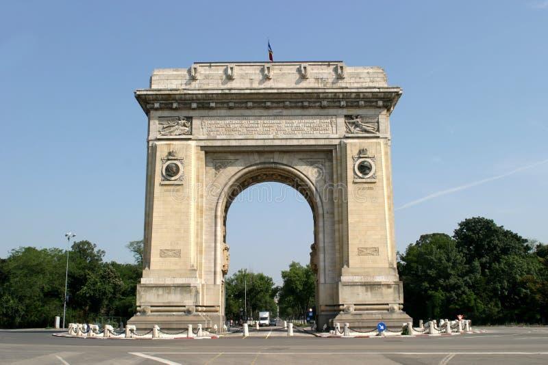 Arc de triumph. The Romanian Arc de Triumph from Bucharest royalty free stock image
